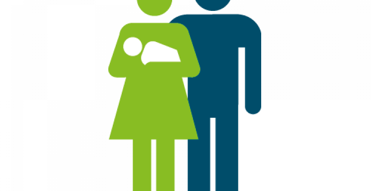 Couple with baby graphic