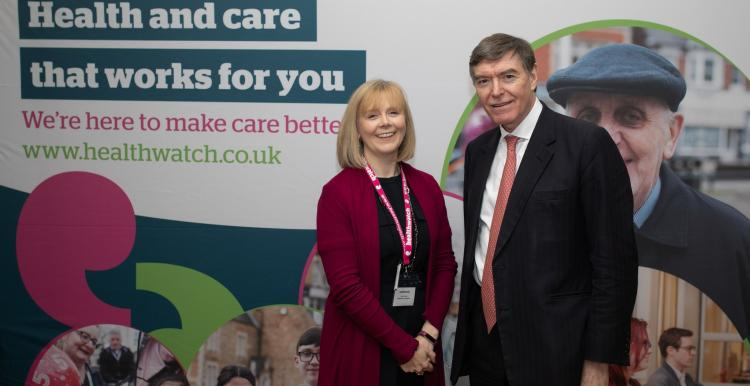 Philip Dunne and Lynn Cawley