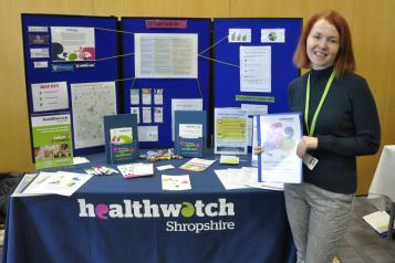 Healthwatch Shropshire Event Stand