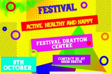 Poster giving details of Health & Wellbeing Festival