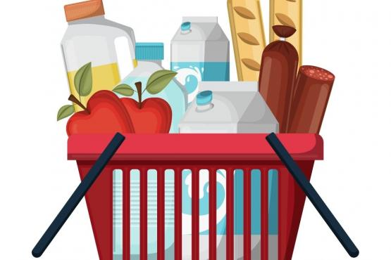 Food basket graphic