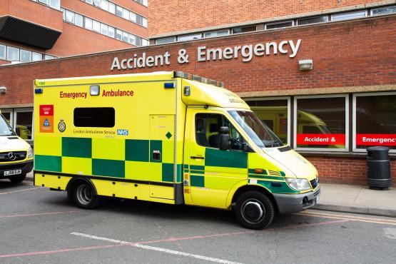 Ambulance outside ED