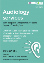 Poster used to promote audiology hot topic