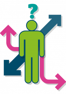 Graphic of figure with different pathways
