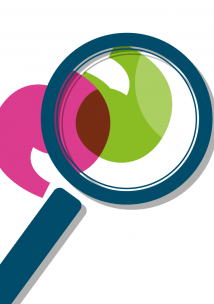 Healthwatch graphic of a magnifying glass